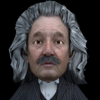 3d model albert einstein