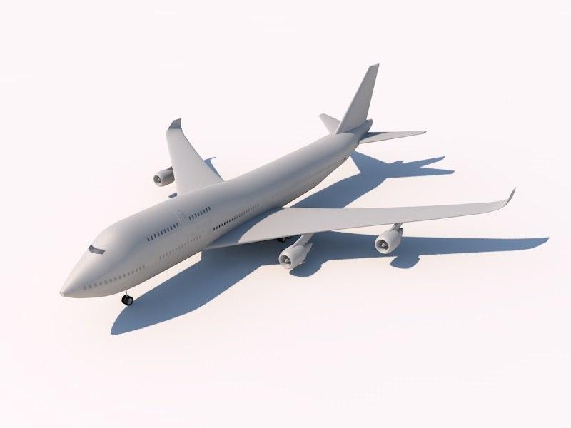 3d boeing 747-400 747