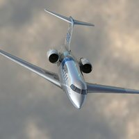 3d model cl-605 private jet