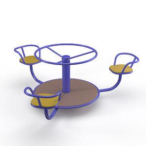 carousel playground welding 3d obj