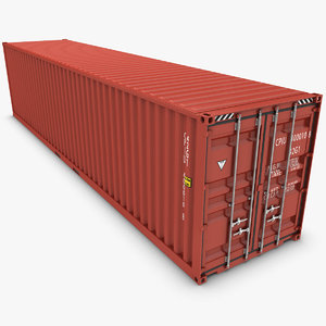 realistic container 40ft 3d model