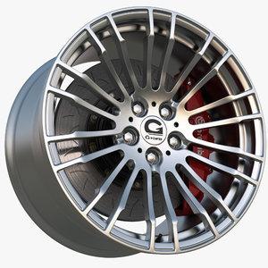 wheel gpower silverstone clubsport 3d model