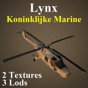 3d max agustawestland lynx nrn helicopter