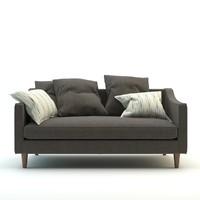 3d model modern design sofa
