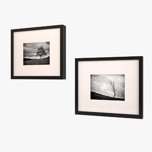framed art black white 3ds