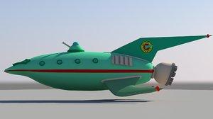 3d planet express ship