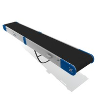 folded portable roller conveyor 3d model