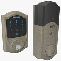 touchscreen deadbolt schlage set 3d model