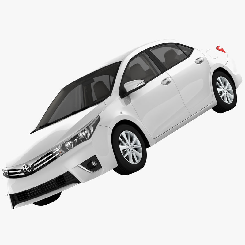 3d toyota levin sedan model