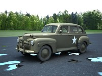 US Army staff car