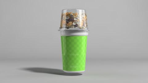 yogurt pack 3d model