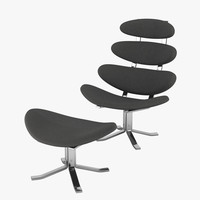 3d poul volther corona chair