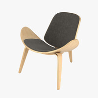 3d hans wegner ch07 chair model