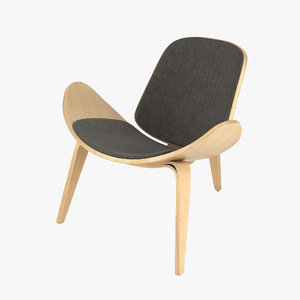 3d hans wegner ch07 chair model
