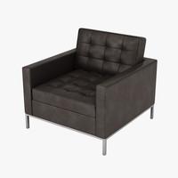 florence knoll armchair 3d model
