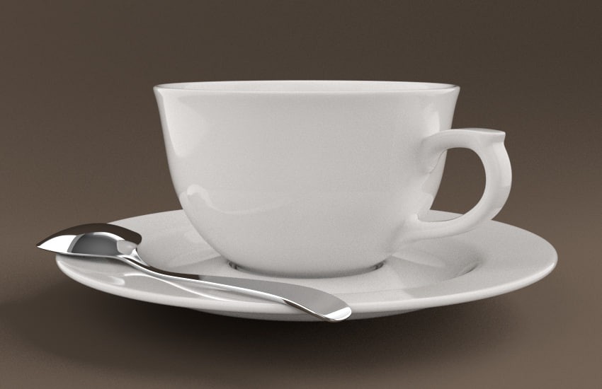 3dsmax coffee cup set