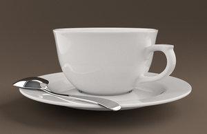 3dsmax coffee cup set
