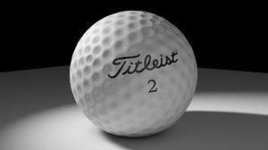 golf ball c4d