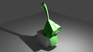 ketupat packet rice 3d 3ds