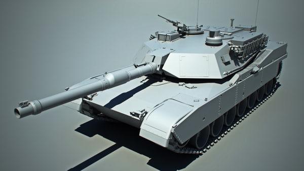 m1 abrams tank obj