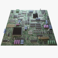 3ds max electronic circuit board seamless