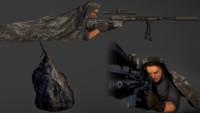 3d model character sniper