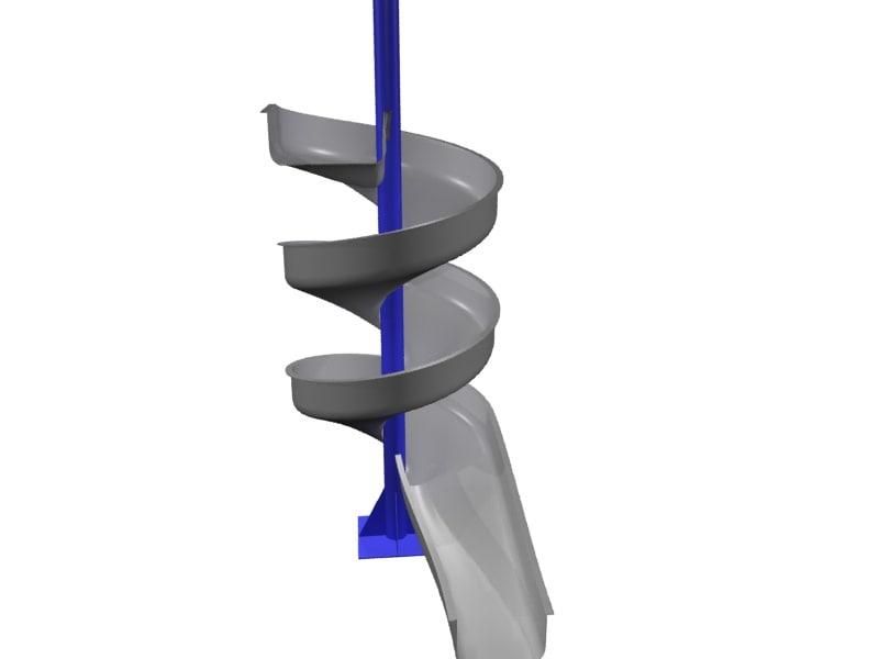 3d spiral chute conveyors model