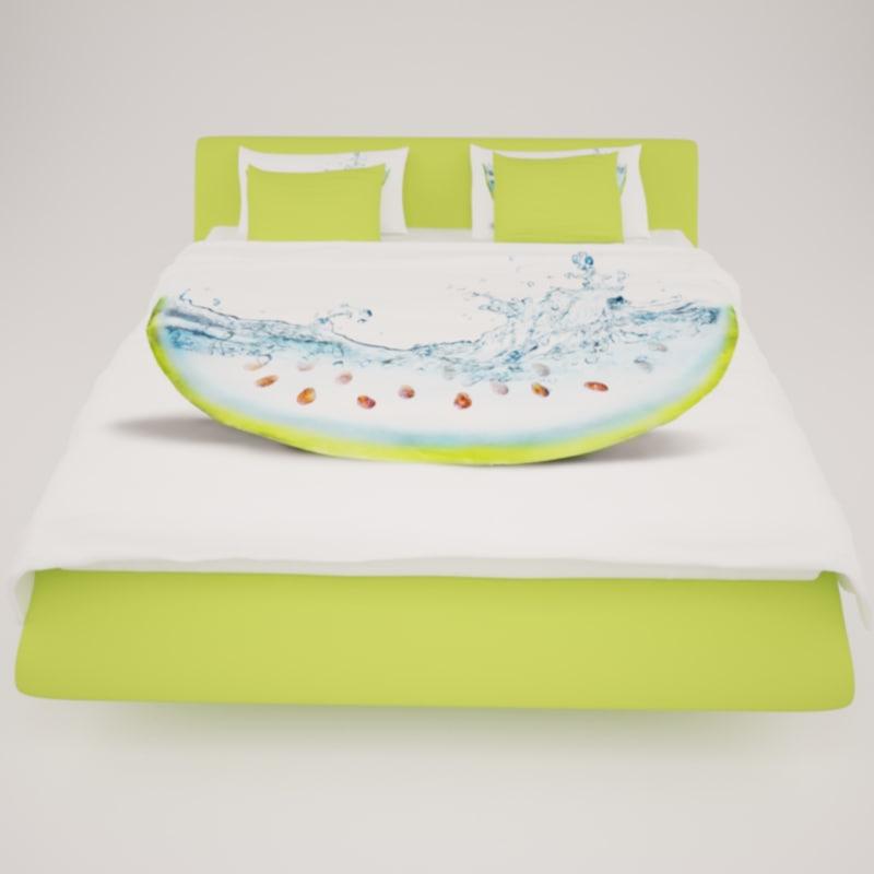 bed modern 3d max