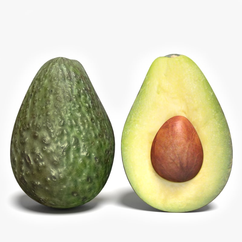 3ds max half avocado
