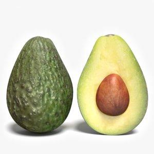 3ds max half avocado