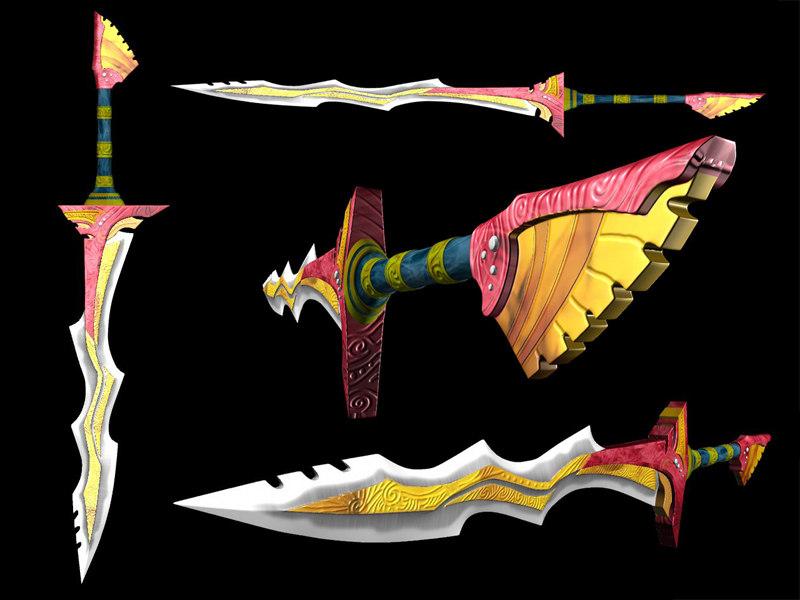 3d tribal sword model