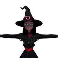 3d model witch mesh