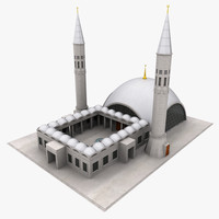 istanbul sakirin mosque 3d max