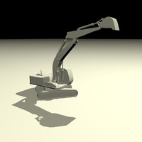 3d excavator animation model