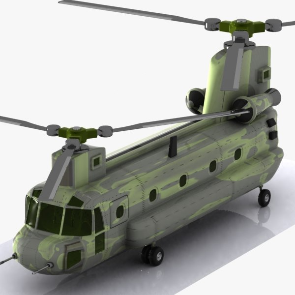 3d model of cartoon transport helicopter