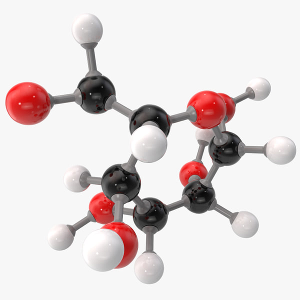 3ds max glucose molecular modeled