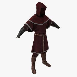 medieval clothes 3 3d model