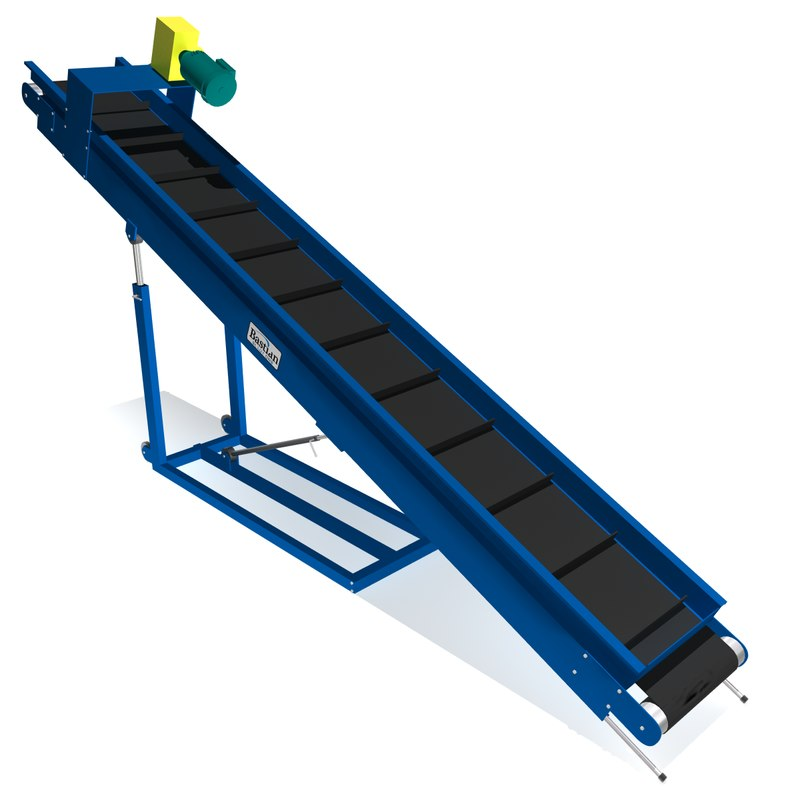 portable parts conveyor belt 3d max
