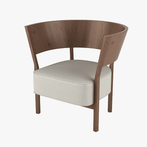 3d model tosai lounge chair