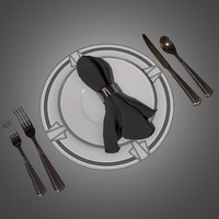 deco dinnerware set obj