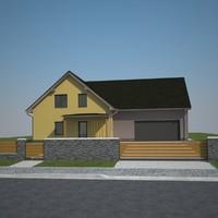 family hou exterior 3d model