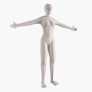 3d model woman figure