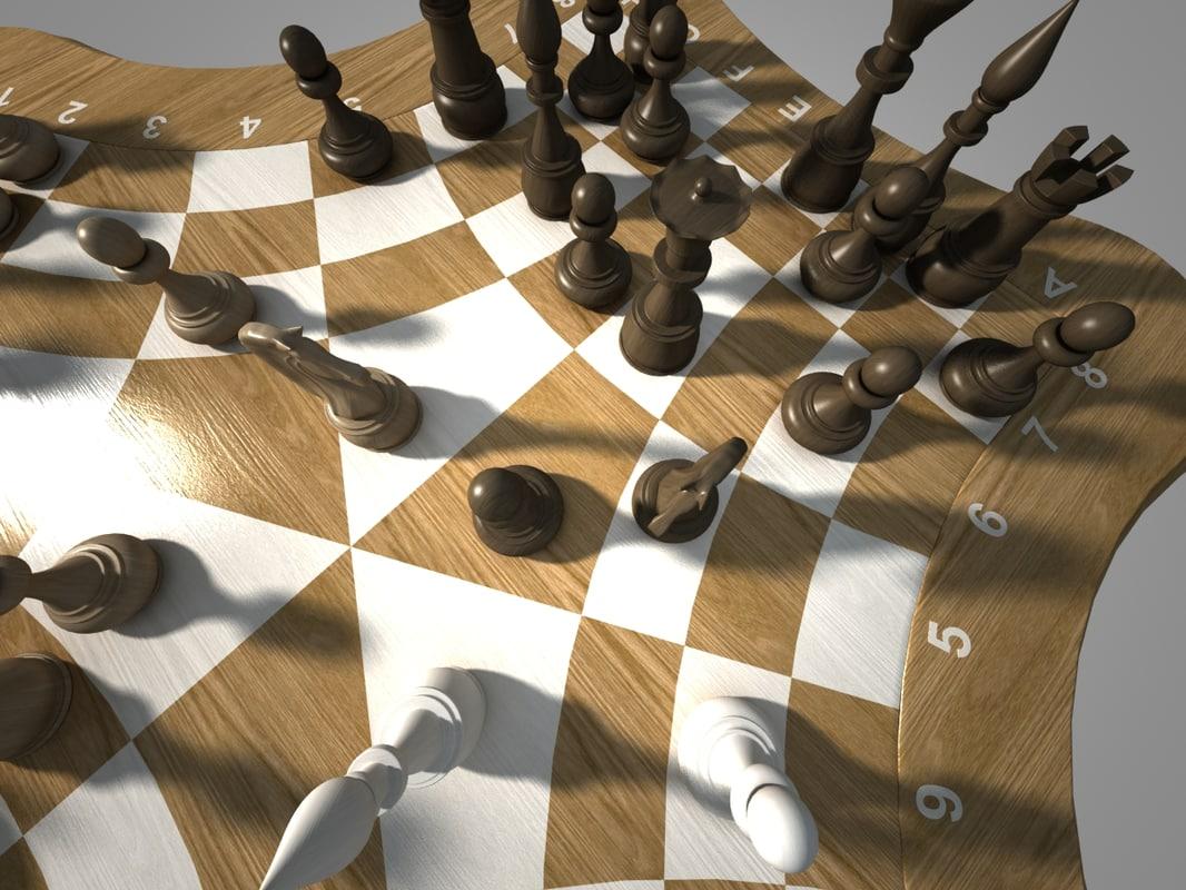 3d max threechess chess