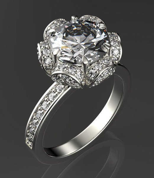 engagement ring obj