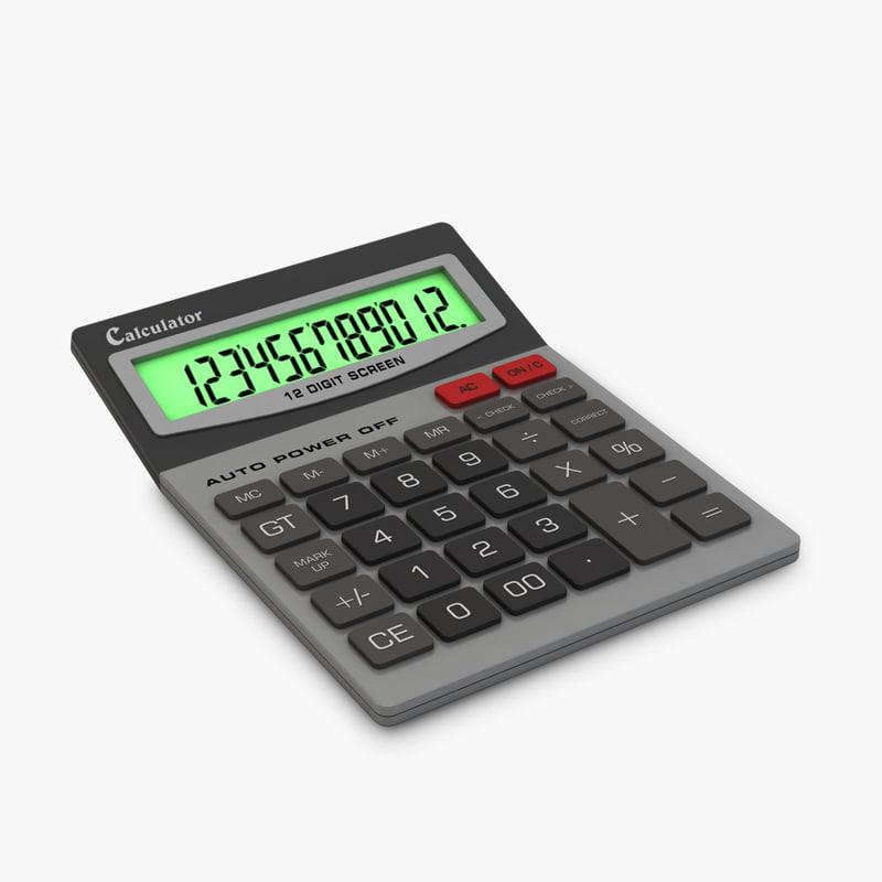 3d generic calculator model