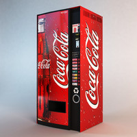coca cola vending machine obj