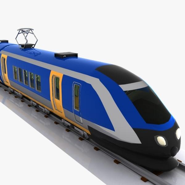 3d max car speed train