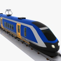 Cartoon High-speed Train