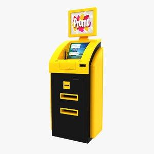 3d model cash terminal 3