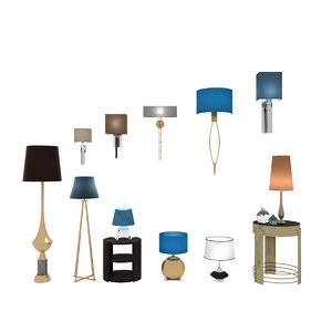 lighing furniture set floor lamps max